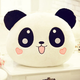 Discount stuffed animal panda - Cute Plush Panda Pillow Mini Plush Toy Stuffed Animal Doll Pillow Bolster Doll Valentine's Day Gift Kids Gift