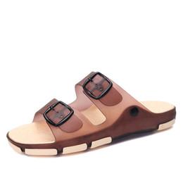 Summer Jelly Shoes Australia - 2019 Summer NEW Men's cool slippers men's beach slippers jelly shoes fashion outdoor shoe Casual Stripes Sandals Flip Flops men