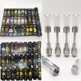 Discount side pen - 1ml Dank Vape Empty Vape Pen Cartridges Side Window Black Dank Cartridges Packaging Vaporizer Pen 510 Oil Cartridge Pack