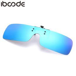 Uva Uvb sUnglasses online shopping - iboode New Square Polarized Clip On Sunglasses Women Men Oversized Sun Glasses Driving Polarized Night Vision Lens Anti UVA UVB