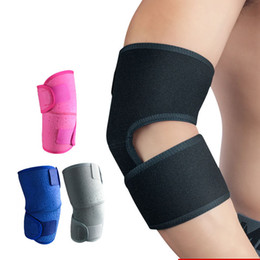 knee pain strap UK - 2Pcs Adjustable Badminton Gym Weightlifting Elbow Support Compression Strap Elbow Pads Lateral Pain Syndrome Epicondylitis Brace