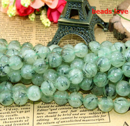 $enCountryForm.capitalKeyWord NZ - beads for jewelry Pick Size 4.6.8.10 12mm Natural Genuine Green Prehnita Round Loose Stone Beads For Jewelry Making-F00188