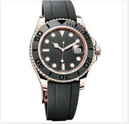 $enCountryForm.capitalKeyWord Australia - Mens Watch YACHT MASTER 40mm Rubber Rose gold Automatic Movement Mechanical Mens Stainless Steel Watches Wristwatch free shipping