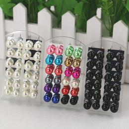 $enCountryForm.capitalKeyWord NZ - LNRRABC Fashion 12 Pairs Pack Wholesale Women Colorful Round Artificial Pearls Ear Stud Ball Earrings Gift