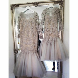 $enCountryForm.capitalKeyWord Australia - 2019 Flower Girl Dresses Vintage Long Sleeves Lace Appliqued Mermaid Formal Party Wear Gowns Kids Pageant Dresses