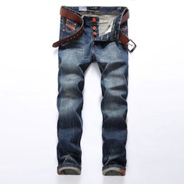 dsel jeans NZ - Hot Sale Fashion Men Jeans Dsel Brand Straight Fit Ripped Jeans Italian Designer 100% Cotton Distressed Denim Jeans