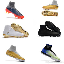 de5d4d8bd Mens Top High Kids Soccer Shoes Mercurial CR7 Superfly V FG Boys Football  Boots Magista Obra 2 Women Youth Soccer Cleats Cristiano Ronaldo