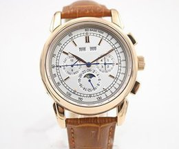 $enCountryForm.capitalKeyWord Australia - Hot seller Super Complicated Automatic Watch Rose Gold Case And Skeleton Analog Sky Moon Glass Back Brown Leather Belt Mechanical Casual Wat