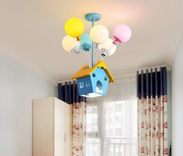 Childrens lamp online shopping - Modern led chandeliers dining room bedroom fixtures Overhead restaurant living room Childrens room simple chandelier lamp Macaron coloured