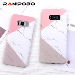 samsung s6 edge back cover UK - Luxury Marble Phone Cases For Galaxy S9 S8 S7 S6 Edge For iphone 6 6s 7 8 8 Plus Geometric Stitch Stone Hard PC Back Cover Case YY
