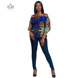 traditional african prints designs Australia - 2019 Autumn africa clothes woman New Dashikis 6xl africa clothing Women traditional african clothing cotton Top plus size WY2506