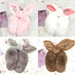 pink earmuffs UK - New Winter Cozy Ear Warmers Headband Cute Ear Muffs for Women Earmuffs shaped White Red Pink Gray Brown Black