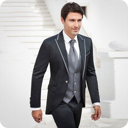 best suits Canada - Latest Coat Pants Designs Italy Men Suits Groom Wedding Tuxedo Peaked Lapel Prom Wear Best Man Blazer Jacket 3Piece Slim Fit Costume Homme