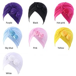 White Loss Australia - New Women Stretchy Ruffle Flower Sleep Turban Hat Headwear Twist Hijab Head Scarves Cap Cancer Chemo Beanies Hair Loss Cover