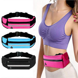 Resistant Headphones Canada - Running Belt Waist Pack Water Resistant Waist Bag Adjustable Running Pouch with Headphone Hole Fanny Pack for Fitness Cycling Exercising