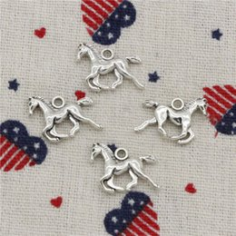 Running Charms Wholesale Australia - 169pcs Charms running horse 22*15mm Pendant,Tibetan Silver Pendant,For DIY Necklace & Bracelets Jewelry Accessories