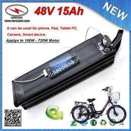 $enCountryForm.capitalKeyWord Australia - FREE SHIPPING 700W 48V 15Ah Lihium ion battery for Electric Bike Bicycle Ebike with Silver Fish housing USB Port + 2A Charger