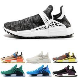 Discount best x art Best discount Human race Hu trail x pharrell williams Nerd men running shoes white Equality mens trainers for women spor