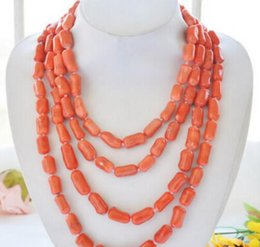 Brass cylinders online shopping - Jewelryr Jade Necklace Long Natural quot mm pink cylinder coral necklace