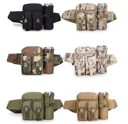 Woman Fans Australia - New 600D nylon Tactical multi-function kettle bag Army fan leisure outdoor bag Men and women sports bag Camouflage travel pockets
