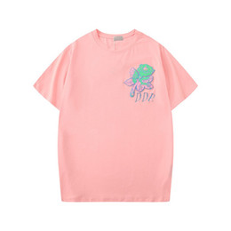 Dior Lady bordado manga curta 20ss Verão New Womens Designer Camisetas Flor camisetas Moda Rose Tees roupa casual tops Clothings S-2XL