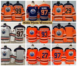de24829b5 2019 Youth Edmonton Oilers Hockey Jerseys 99 Wayne Gretzky 97 Connor McDavid  27 Milan Lucic 29 Leon Draisaitl 93 Ryan Nugent Kids Shirts
