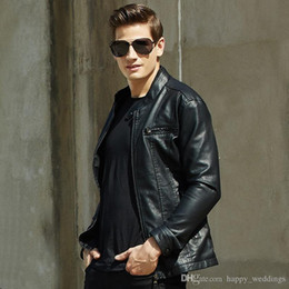 $enCountryForm.capitalKeyWord Australia - Nice Autumn Winter New Brand In Stock Men Motorcycle Biker Leather Jacket Mens Casual Leather Fleece Jackets Plus Size