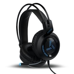 7.1 computers UK - V2000 Headset 7.1 Channel 3.5mm Jack Bass Stereo Sound Effect Gaming Headphone With Mic for Computer PC Laptop Gamer Earphone