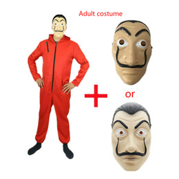 Chinese  Salvador Dali Movie Costume Money Heist The House of Paper La Casa De Papel Cosplay Halloween Party Costumes with Face Mask manufacturers