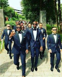 Slim fit pantS cheap online shopping - Hot Sale Shawl Lapel Wedding Tuxedos Slim Fit Suits For Men Groomsmen Suit Two Pieces Cheap Prom Formal Suits Jacket Pants Tie
