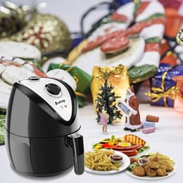 Wholesale New 500W 120V 2.7L Mechanical Air Fryer Multi-function Programmable Timer and Temperature Control US Plug Black Shipping from US