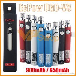 $enCountryForm.capitalKeyWord UK - 100% Authentic EcPow UGO V3 3 III Battery 650mAh 900mAh Preheat 510 Thread EVOD EGO Micro USB Charger Vape UGO-V3 For Thick Oil Cartridge