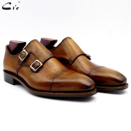 $enCountryForm.capitalKeyWord Canada - cie monk shoes for man patina brown dress shoe genuine calf leather outsole men suits formal leather work shoe handmade No. 3