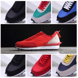 camp shoes for men Australia - 2019 Sacai LDV Waffle Daybreak running shoes for men women sneakers Green Gusto fashion sneaker black white Camping Hiking running trainer