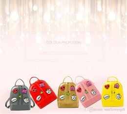$enCountryForm.capitalKeyWord NZ - New Cute Cartoon Candy Color Jelly Backpack for Sweet Baby Girl Kid Children Backpack Women Casual Fresh Jelly School Bag