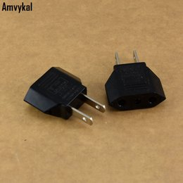 Power Socket Eu Australia - Amvykal Universal America USA Travel AC Power Electrical Plug Socket 2 Pins Round EU To US Plug Adapter Converter