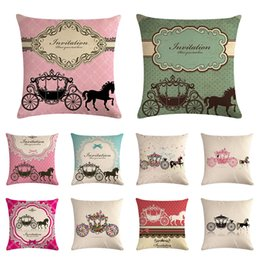 $enCountryForm.capitalKeyWord Australia - Vintage Style Simple Royal Wedding Carriage Pillow Case Linen Cotton Cushion Cover For Seat Chair Home Decor Couch Pillows 1451