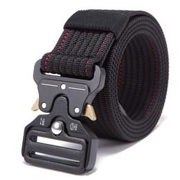 Cinturón táctico ajustable para hombre Tactical de servicio pesado Cintura de nylon Hebilla de metal de caza al aire libre Patrol Cinturones de combate en venta