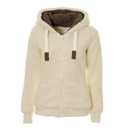 $enCountryForm.capitalKeyWord NZ - New women Warm Outerwear Coat Winter Women Casual Hooded Neck Long Sleeve Zipper Closure Solid Sweatshirts Winter Zipper