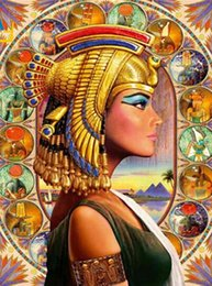 Painting Room Blue Australia - 40x50cm Painting by numbers acrylic Paint paintings by number on canvas Queen of Egypt paintings for the living room wall decorations at hom