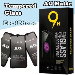 iphone matte screen Australia - AG Matte 9H Curved Tempered Glass Film Screen Protector Guard For iPhone 11 Pro Max XS XR X 8 7 6S Plus Full Cover Shockproof Explosion
