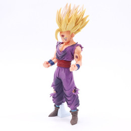 Venta al por mayor de 20 cm Anime Dragon Ball Z Super Saiyan Son Gohan Figuras de acción Figura de pieza de Dragonball Figurilla maestra de juguete modelo de Dragonball