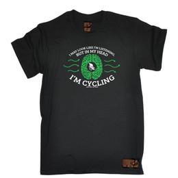 $enCountryForm.capitalKeyWord Australia - Men's Black S - I May Look Like Listening I'm Cycling - Cheap Tee Style Round Style tshirt Tees Custom Jersey t shirt