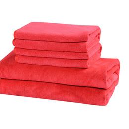 Pink Car Set UK - Car Wash Microfiber Towel Car Cleaning Drying Cloth Hemming Care Cloth Super Absorbent Wash Towel