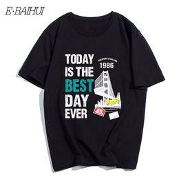 $enCountryForm.capitalKeyWord Australia - E-BAIHUI Cotton Men Short Sleeve Today IS The Best Day Ever and Bridge Printed Streetwear Crew Neck Casual Men T-shirt T-167