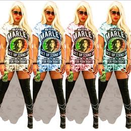 $enCountryForm.capitalKeyWord NZ - Women Rock Dresses Bob Marley Letter Floral Printed Long Dresses Irregular Hole T-shirt Dress Summer Woman Dovetail Short Skirt C5901
