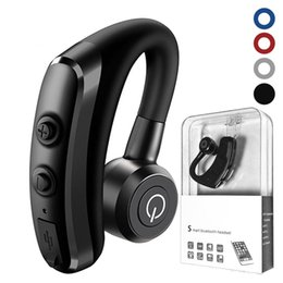 Wireless Headphones Mic Blue Australia - V5 Wireless Bluetooth Headphones CSR 4.1 Business Stereo Wireless Earphones Earbuds Headset With Mic Voice Control with package
