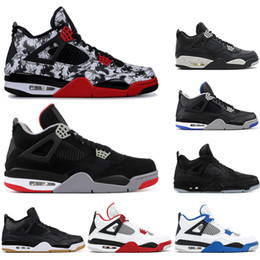 $enCountryForm.capitalKeyWord Australia - With socks new High Quality 4 4s Basketball Shoes BRED ROYALTY tattoo BLACK CAT ALTERNAT fashion OREO Men Sports Sneakers Shoes size 40-47