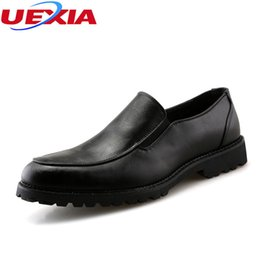 Discount leather work oxfords for men - UEXIA Leather Men Dress Shoes High Quality Oxfords Shoes For Men Lace-Up Business Wedding Shoes Work Formal Dress Flats