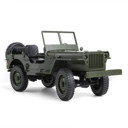 toy world war UK - Military Model Electric Toys 1:10 Scale 2.4G 4WD World War II U. S. Army RC Willys JEEP Truck Model Toy For Gift Kids Collection
